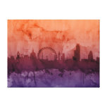 London England Skyline Stretched Canvas Prints