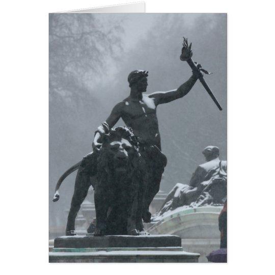 London England Statues Card