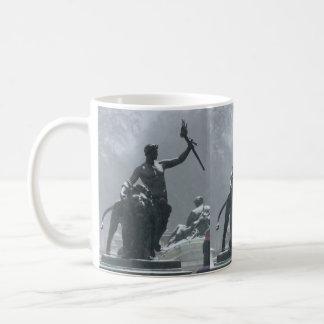 London England Statues Coffee Mug