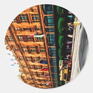 London England Classic Round Sticker