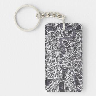 London England Street Map Art Keychain