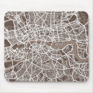 London England Street Map Art Mouse Pad