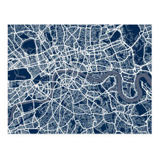 London England Street Map Art Postcard