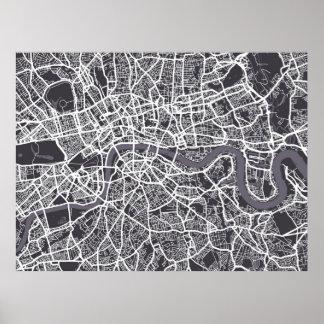 London England Street Map Art Poster