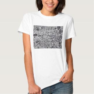 London England Street Map Art T Shirt