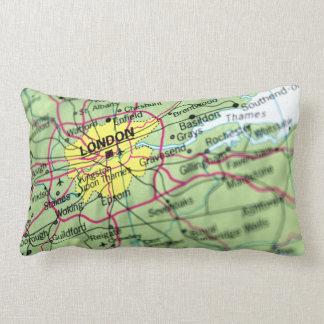 London, England Street Map Lumbar Pillow