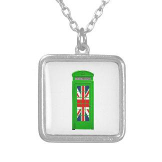 London England telephone box Green Jewelry