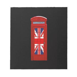London England telephone box Memo Pads