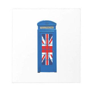 London England telephone box Note Pad
