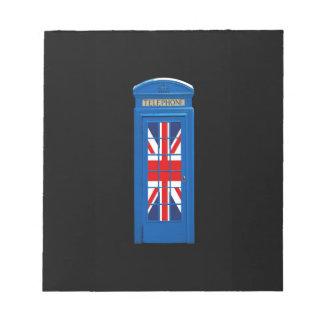 London England telephone box Note Pads