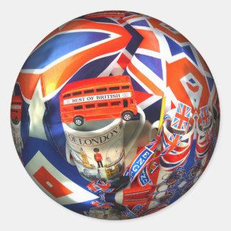 London England Tourist Attractions Classic Round Sticker