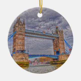 London, England Tower Bridge & Thames River Ceramic Ornament