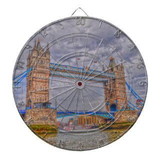 London, England Tower Bridge & Thames River Dartboards