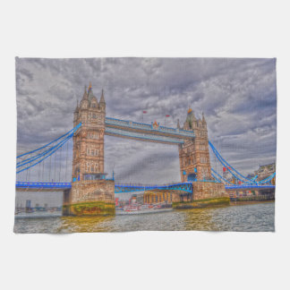 London, England Tower Bridge & Thames River Towel