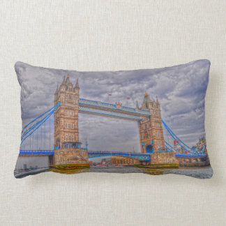 London, England Tower Bridge & Thames River Lumbar Pillow