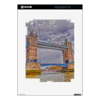 London, England Tower Bridge & Thames River Skins For The iPad 2