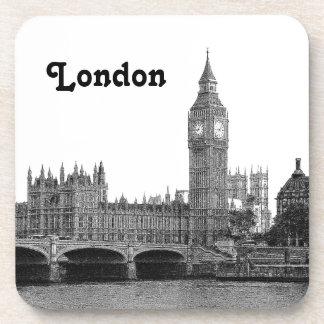 London England UK Skyline Etched Coaster