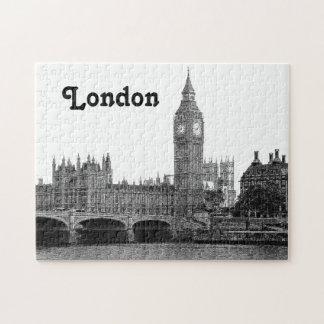 London England UK Skyline Etched Jigsaw Puzzle