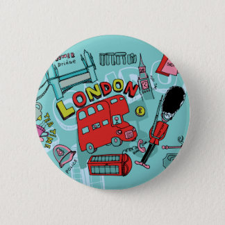 London ~ England United Kingdom Travel Art Button