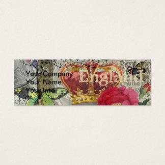 London England Vintage Travel Collage Mini Business Card