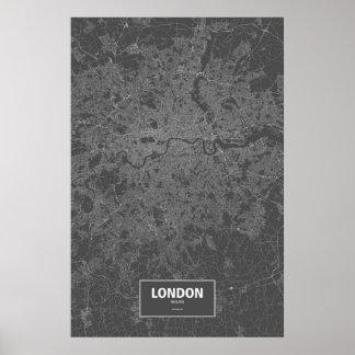 London, England (white on black) Poster