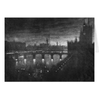 London Evening Westminster 1909 Card