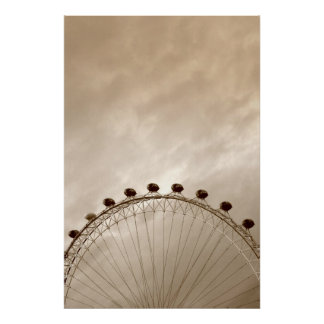 London Eye against the sky Posters