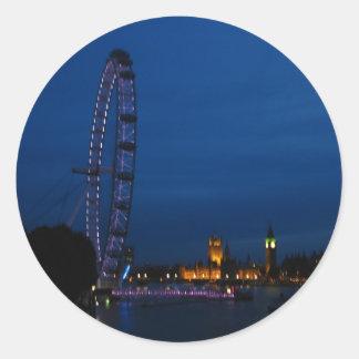 London Eye and Big Ben Classic Round Sticker