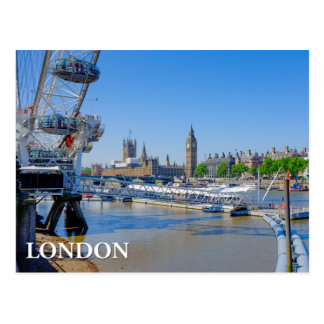 London Eye and Houses of Parliament Postcard