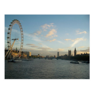 London Eye and Parliament Postcard