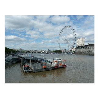 London Eye and river view Postcard