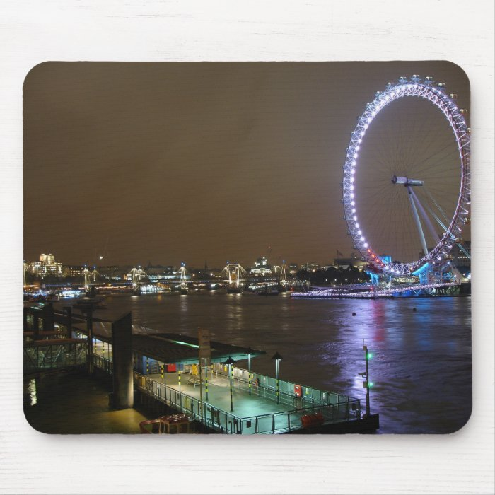 London Eye and Thames Mouse Pad