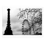 London Eye Art Background Postcard