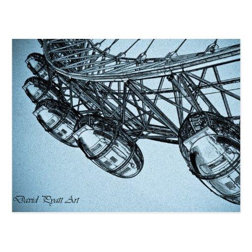 London Eye art Post Cards
