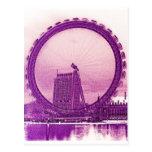 London Eye Art Postcard