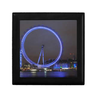 London Eye at night reflected in the Thames Gift Box