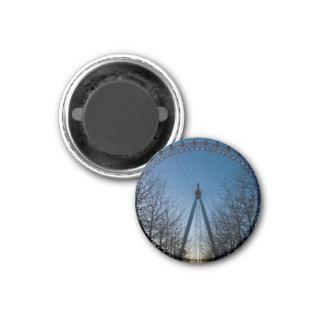 London Eye at Twilight 1 Inch Round Magnet
