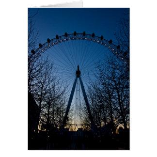 London Eye at Twilight Card
