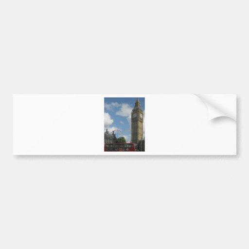 London Eye & Big Ben Bumper Stickers