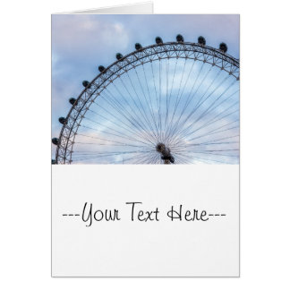 London Eye Blue Sky Greeting Card