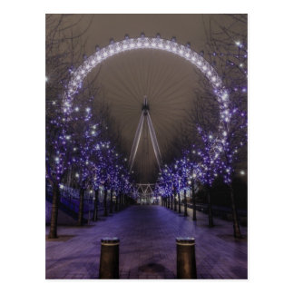 London eye by night postcard