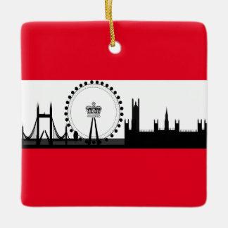 London Eye City Skyline England Christmas Ornament