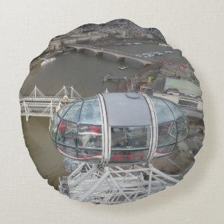 London Eye City View Round Pillow