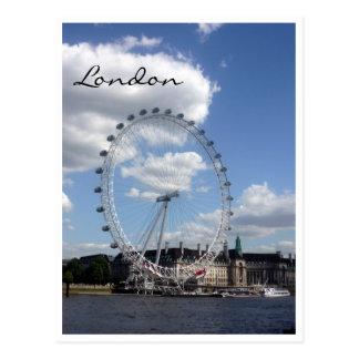london eye cloud postcard