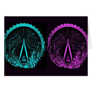 London Eye Collage Greeting Card