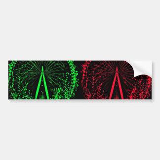 London Eye Collage-I Car Bumper Sticker