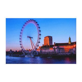 London Eye During Night Canvas Print