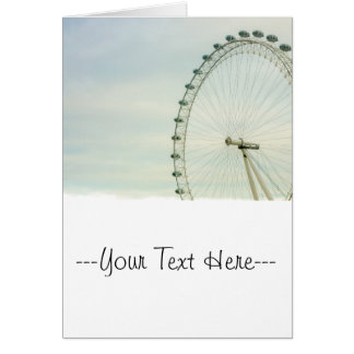 London Eye Green Blue Sky Greeting Card