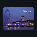 "London Eye Magnet<br><div class=""desc"">London Eye lit up at night.</div>"