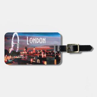 London Eye Night Tag For Luggage
